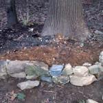 backyard stones course wall