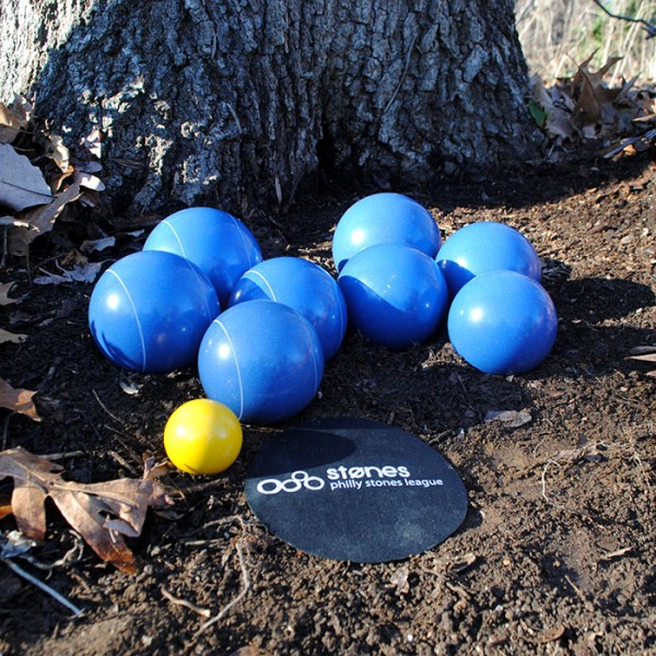 stones team set of 8 - blue